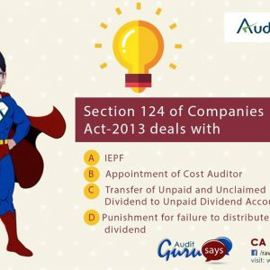 Sections 124 Companies Act- 2013